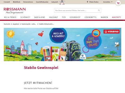 gewinnspiel stabilo gewinnspiel - Rossmann Bewerbung Online