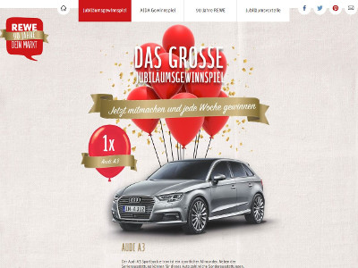 Retro Kühlschrank Neckermann : Rewe markt gmbh: rewe jubiläums gewinnspiel gewinnspiele.de